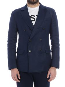 Valentino - Blue double-breasted jacket