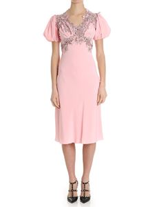 Ermanno Scervino - Pink embroidered dress