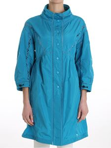 Ermanno Scervino - Turquoise embroidered trench coat