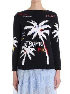 Ermanno Scervino - Embroidered palms sweater