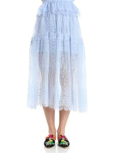 Ermanno Scervino - Light blue lace skirt