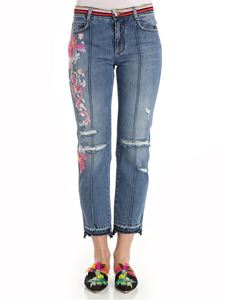 Ermanno Scervino - Jeans with floral embroidery