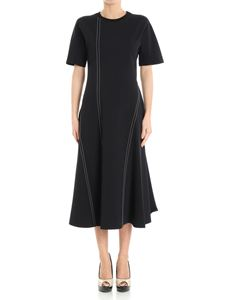 Diane von Fürstenberg - Black dress with white stitching