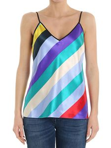 Diane von Fürstenberg - Multicolor striped silk top