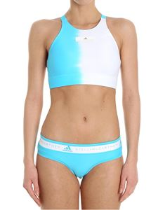 Adidas by Stella McCartney - Light-blue and white top bikini