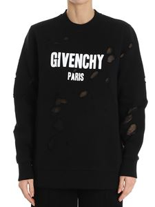 Givenchy - Black sweatshirt with rips
