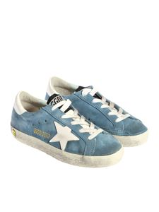 Golden Goose Deluxe Brand - Light blue Superstar sneakers