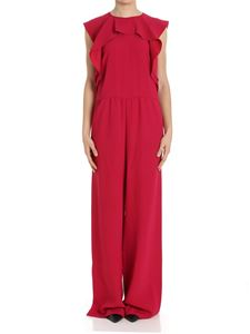 Red Valentino - Fuchsia jumpsuit with palazzo pants