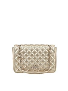 Love Moschino - Golden quilted eco-leather bag