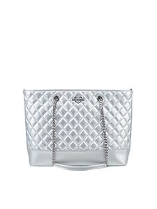 Love Moschino - Silver quilted eco-leather bag
