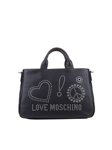 Love Moschino - Eco-leather bag with studs inserts