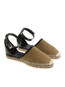 Isabel Marant - Army green Carlyce espadrilles