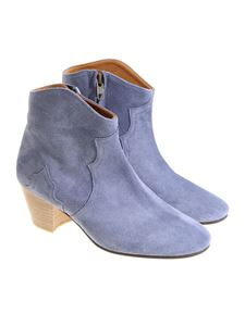 Isabel Marant - Light-blue Dicker ankle boots