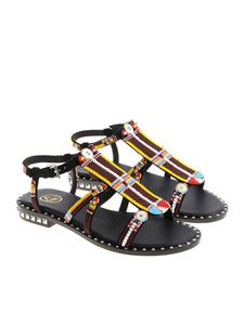 Ash - Polynesia sandals with multicolor beads