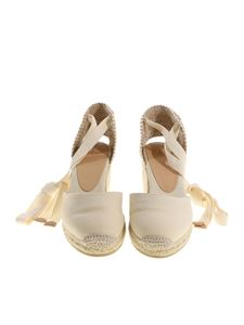 Castaner - Cream-colored Carina wedge espadrilles