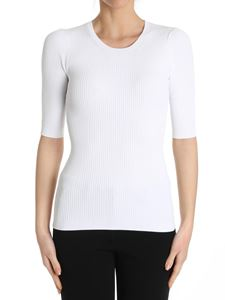 Theory - White ribbed top