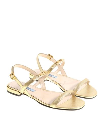 Prada - Golden sandals