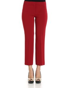 Theory - Burgundy crop trousers