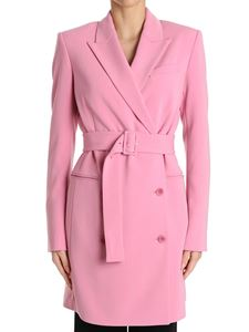 Theory - Pink double-breasted overcoat