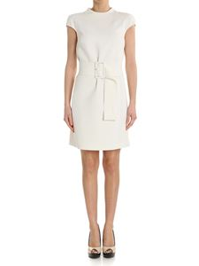 Theory - White sheath dress with belt