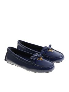 Prada - Blue loafers with bow detail