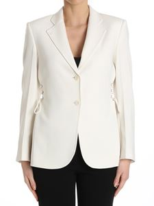 Theory - White Laced single-breasted jacket