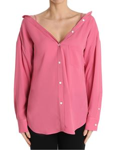 Theory - Pink Tamalee off-shoulders shirt