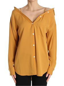 Theory - Ocher color Tamalee off-shoulders shirt