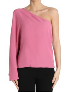Theory - Pink Ruza one-shoulder top