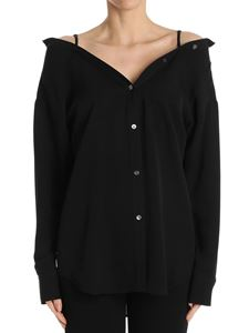 Theory - Black Tamalee off-shoulders shirt