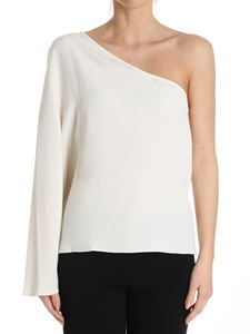Theory - White Ruza one-shoulder top