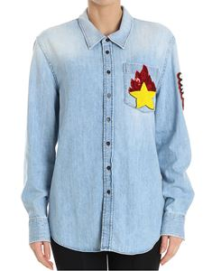 Dondup - Many denim shirt with yellow and red star