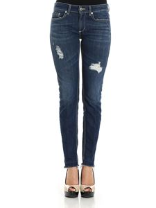 Dondup - Blue ripped Monroe jeans