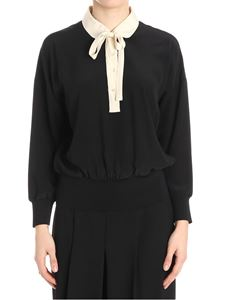 Red Valentino - Black blouse with beige details