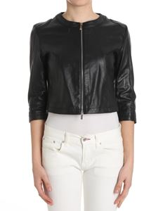 B. FOR - Black hammered leather jacket