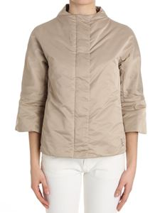 ADD - Beige down jacket with flared sleeves