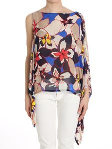 KI6? Who are you? - Asymmetric top with floral print