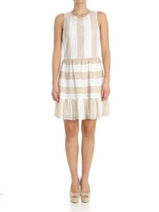 Blugirl - White and beige lace dress