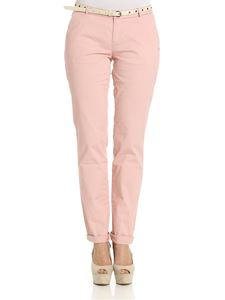 Scotch & Soda - Pink Route22 trousers with belt