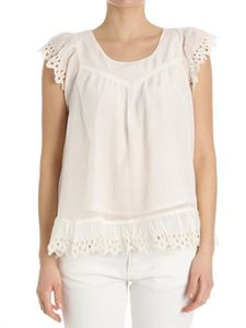 Scotch & Soda - White top with ruffled sleeves