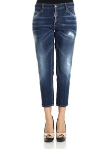 Dsquared2 - Blue Boyfriend cotton jeans