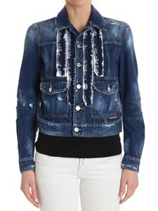 Dsquared2 - Blue denim jacket with ruffles