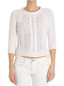 Lorena Antoniazzi - White sweater with sequins