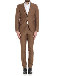 Eleventy - Brown check patterned suit