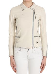 S.W.O.R.D. - Cream-colored leather jacket (Gold Limited Edition)