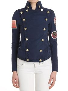Mr&Mrs Italy - Blue embroidered double-breasted jacket