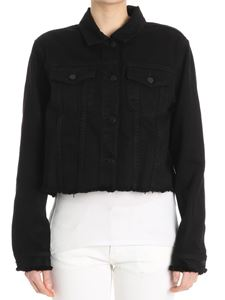 J Brand - Black denim fringed Cyra jacket