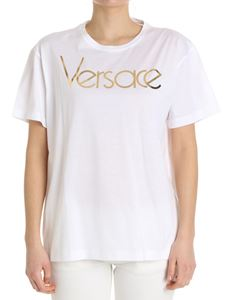 Versace - White T-shirt with golden logo