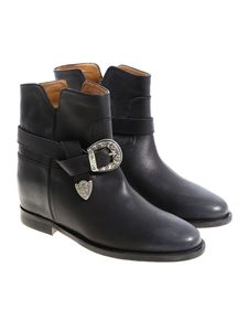 Via Roma 15 - Black leather ankle boots