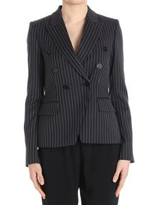 Stella McCartney - Wellesley double-breasted pinstriped jacket